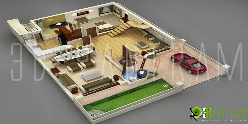Yantram animation studio Home plan 3d